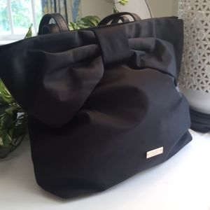 Kate Spade bow black On Purpose nylon tote bag